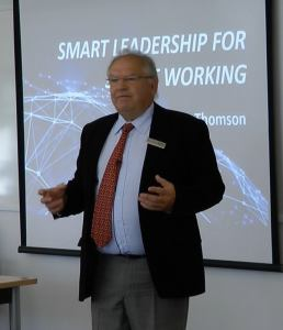 Peter Thomson speaking about smart leadership at Henley Management College